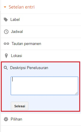 optimasi seo onpage blogspot